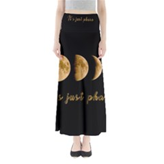 Moon phases  Full Length Maxi Skirt