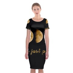 Moon phases  Classic Short Sleeve Midi Dress