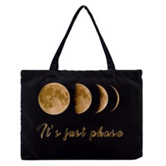 Moon phases  Medium Zipper Tote Bag
