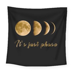 Moon phases  Square Tapestry (Large)