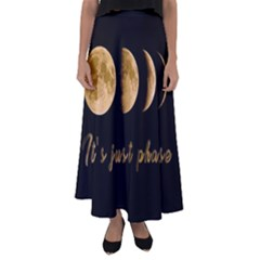 Moon phases  Flared Maxi Skirt