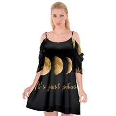 Moon phases  Cutout Spaghetti Strap Chiffon Dress
