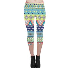 Tribal Print Capri Leggings