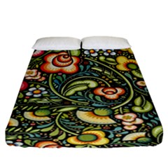 Bohemia Floral Pattern Fitted Sheet (california King Size)