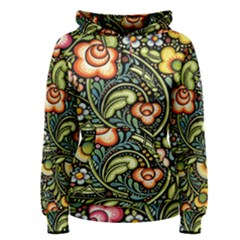 Bohemia Floral Pattern Women s Pullover Hoodie