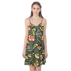 Bohemia Floral Pattern Camis Nightgown
