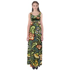 Bohemia Floral Pattern Empire Waist Maxi Dress