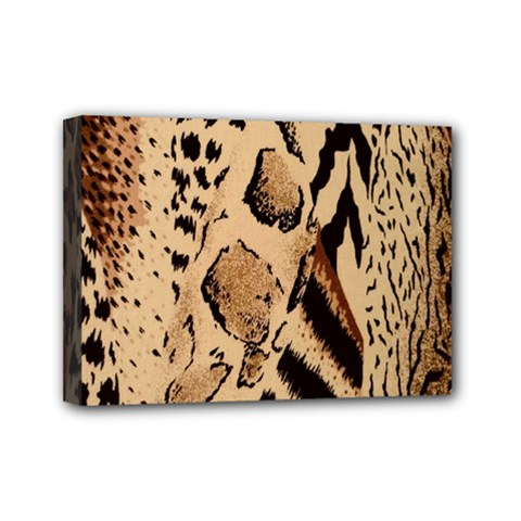 Animal Fabric Patterns Mini Canvas 7  X 5