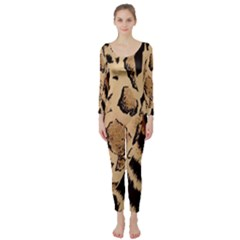 Animal Fabric Patterns Long Sleeve Catsuit