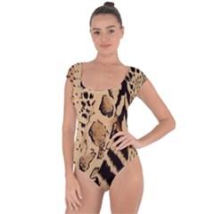 Animal Fabric Patterns Short Sleeve Leotard