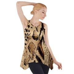 Animal Fabric Patterns Side Drop Tank Tunic