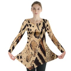 Animal Fabric Patterns Long Sleeve Tunic