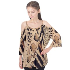 Animal Fabric Patterns Flutter Tees