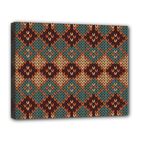 Knitted Pattern Canvas 14  x 11