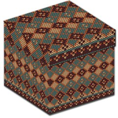Knitted Pattern Storage Stool 12