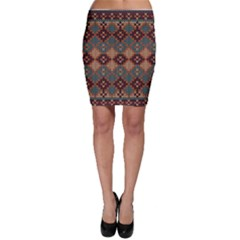Knitted Pattern Bodycon Skirt