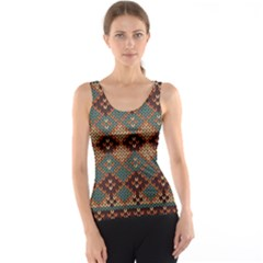 Knitted Pattern Tank Top