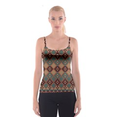 Knitted Pattern Spaghetti Strap Top