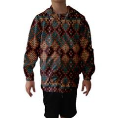 Knitted Pattern Hooded Wind Breaker (kids)