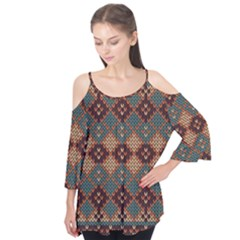 Knitted Pattern Flutter Tees