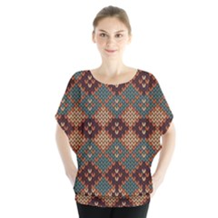 Knitted Pattern Blouse