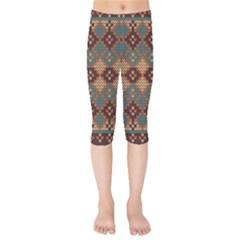 Knitted Pattern Kids  Capri Leggings