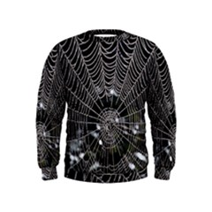 Spider Web Wallpaper 14 Kids  Sweatshirt