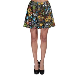 Many Funny Animals Skater Skirt