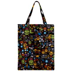 Many Funny Animals Zipper Classic Tote Bag