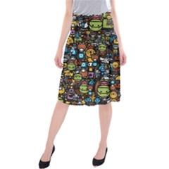 Many Funny Animals Midi Beach Skirt