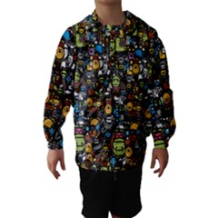 Many Funny Animals Hooded Wind Breaker (kids)