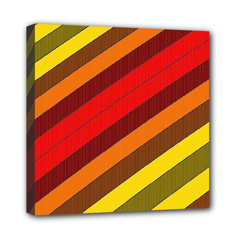 Abstract Bright Stripes Mini Canvas 8  x 8