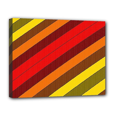 Abstract Bright Stripes Canvas 14  x 11