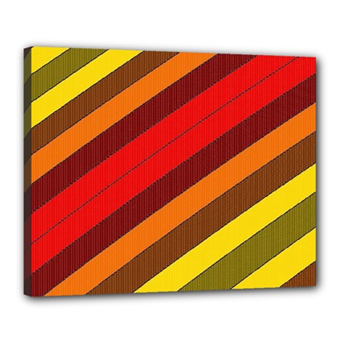 Abstract Bright Stripes Canvas 20  x 16