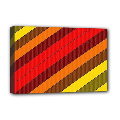 Abstract Bright Stripes Deluxe Canvas 18  X 12