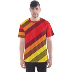 Abstract Bright Stripes Men s Sports Mesh Tee