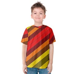 Abstract Bright Stripes Kids  Cotton Tee