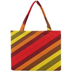Abstract Bright Stripes Mini Tote Bag