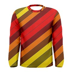 Abstract Bright Stripes Men s Long Sleeve Tee