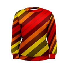 Abstract Bright Stripes Women s Sweatshirt