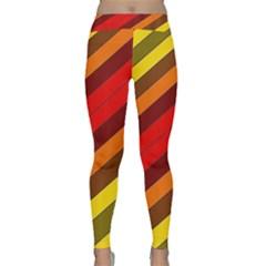 Abstract Bright Stripes Classic Yoga Leggings
