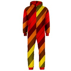 Abstract Bright Stripes Hooded Jumpsuit (men)