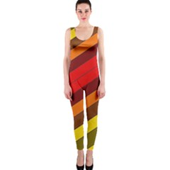 Abstract Bright Stripes OnePiece Catsuit