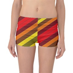 Abstract Bright Stripes Boyleg Bikini Bottoms