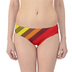 Abstract Bright Stripes Hipster Bikini Bottoms