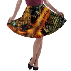 Hdri City A Line Skater Skirt