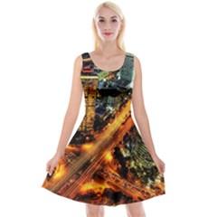 Hdri City Reversible Velvet Sleeveless Dress