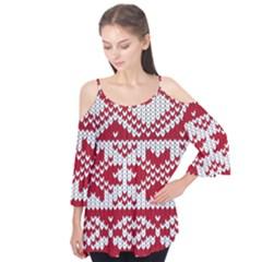 Crimson Knitting Pattern Background Vector Flutter Tees