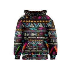 Cute Hipster Elephant Backgrounds Kids  Pullover Hoodie