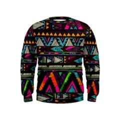 Cute Hipster Elephant Backgrounds Kids  Sweatshirt